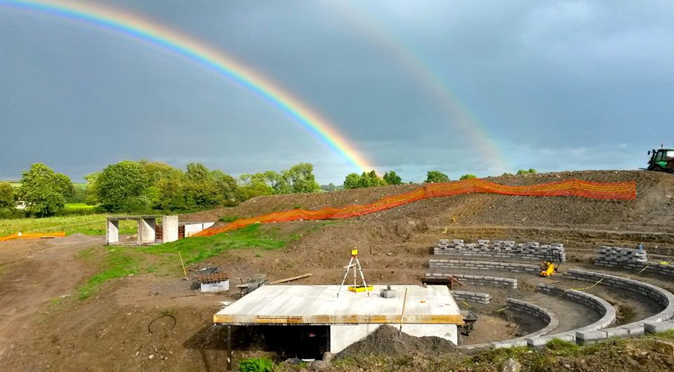 Amphitheater rainbow construction