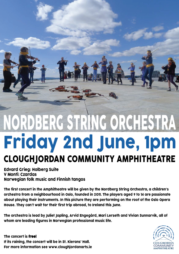 Nordberg String Orchestra at Cloughjordan Amphitheatre, Friday 2nd June, 1pm (free event)